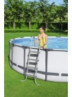 Каркасный бассейн Steel Pro Max (427х122) 15232л, фильтр-насос 3028л/ч, лестница, тент, Bestway