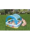 Детский надувной бассейн Bestway (140x140x114 см) 265 л с навесом от солнца