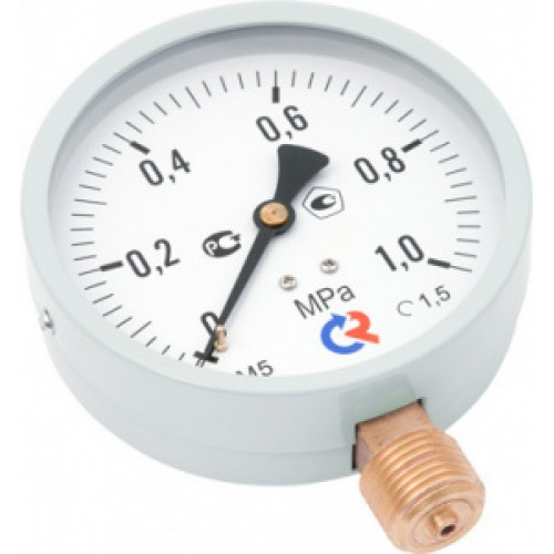 Манометр радиальный ТМ-510P.00 (0-0,6MPa) M20x1,5.1,5.M2 диаметр 100мм РОСМА купить в интернет магазине Санрай73