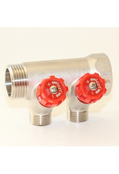 Коллектор регулируемый 3/4х1/2 с 2 отводами VRT