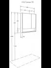 Зеркальный шкаф Сканди 90 Белый/Дуб Рустикальный Акватон