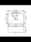Мойка 6045 MELANA ProfLine 3,0/200 САТИН САТИН врезная прямоугольная и смеситель MELANA-F8107 нерж.