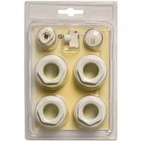 Комплект нижнего подключения для алюминиевых ражиаторов Global (правый)