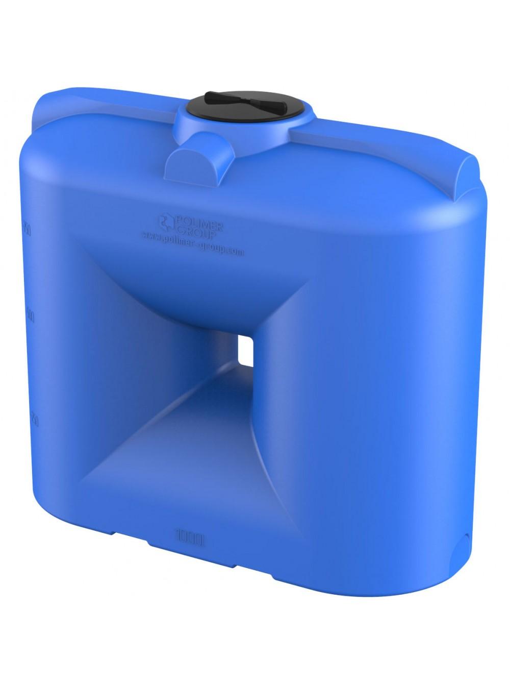 Емкость прямоугольная S-1000 (голубой) Polimer Group