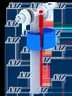 Заливной клапан Ани WC5050 боковой подвод