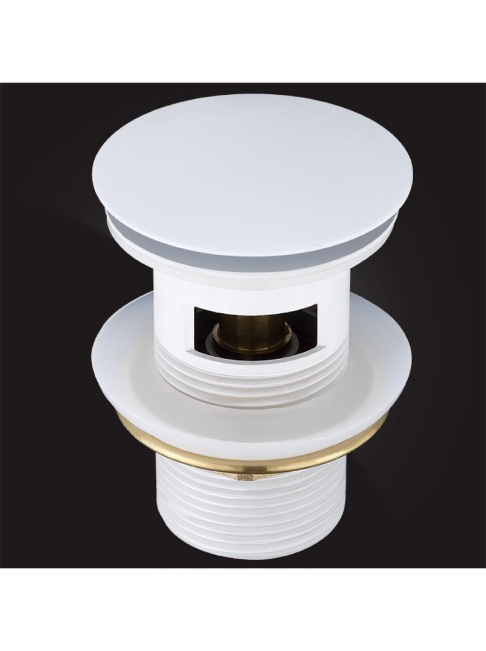 Донный клапан Elghansa WASTE SYSTEMS WBT-122-White для раковины с переливом, белый
