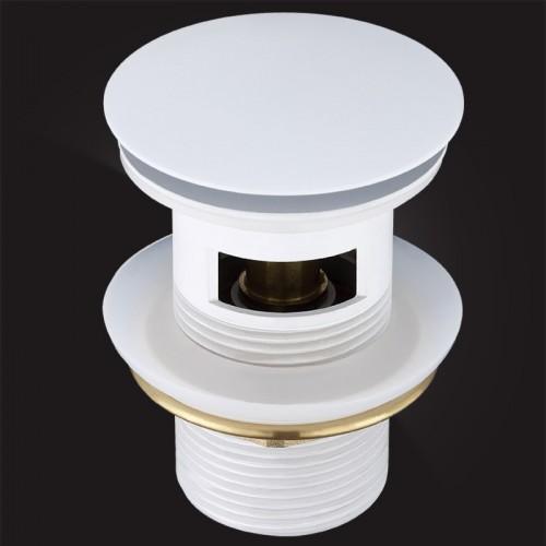 Донный клапан Elghansa WASTE SYSTEMS WBT-122-White для раковины с переливом, белый купить в интернет магазине Санрай73