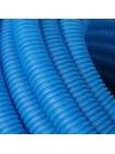 Труба гофрированная ПНД, цвет синий, наружным диаметром 32 мм для труб диаметром 25 мм STOUT