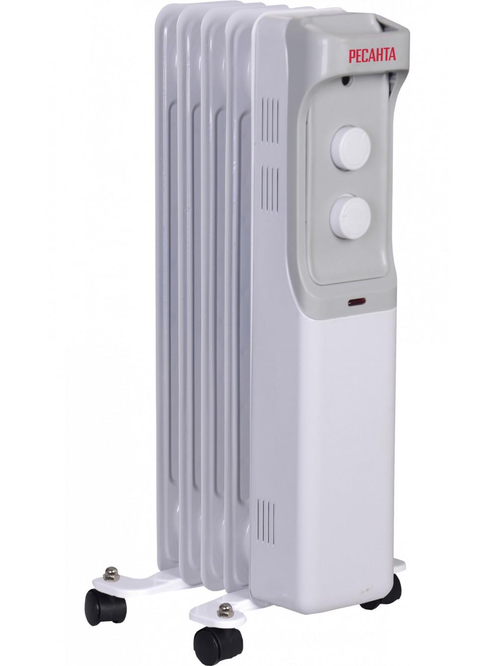 Масляный радиатор напольный ОМ-5Н (1кВт)