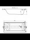 Ванна SMART 170x80, без ножек левая Cersanit