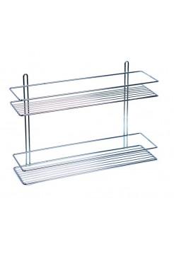 Полка для ванной комнаты прямая 2-яруса (ОЦ) Sanflor