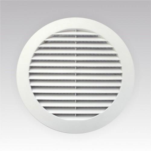 Вентиляционная решетка D150 с фланцем  с сеткой 12РКС ABC купить в интернет магазине Санрай73