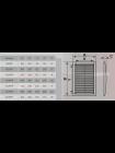 Вентиляционная решетка ERA 250*250  ж/нак фиксированные разъемная