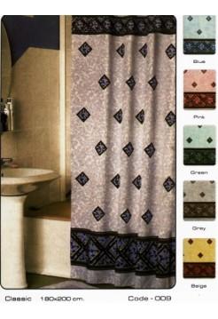 Шторка тканевая для ванной комнаты Zalel (ткань)
