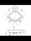 Душевой уголок Triton Классика В1 МОЗАИКА 100*100 полукруг средн поддон
