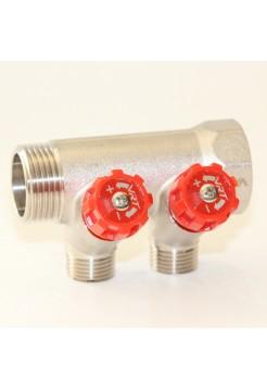 Коллектор регулируемый 1х1/2 с 2 отводами VRT