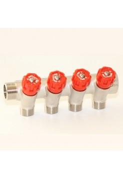 Коллектор регулируемый 3/4х1/2 с 4 отводами VRT