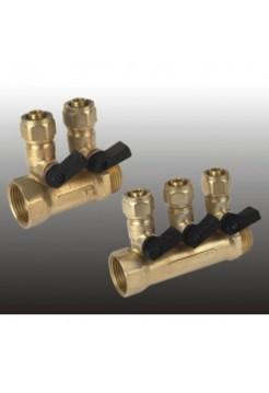 Коллектор регулируемый 3/4х1/2 с 4 отводами Frap