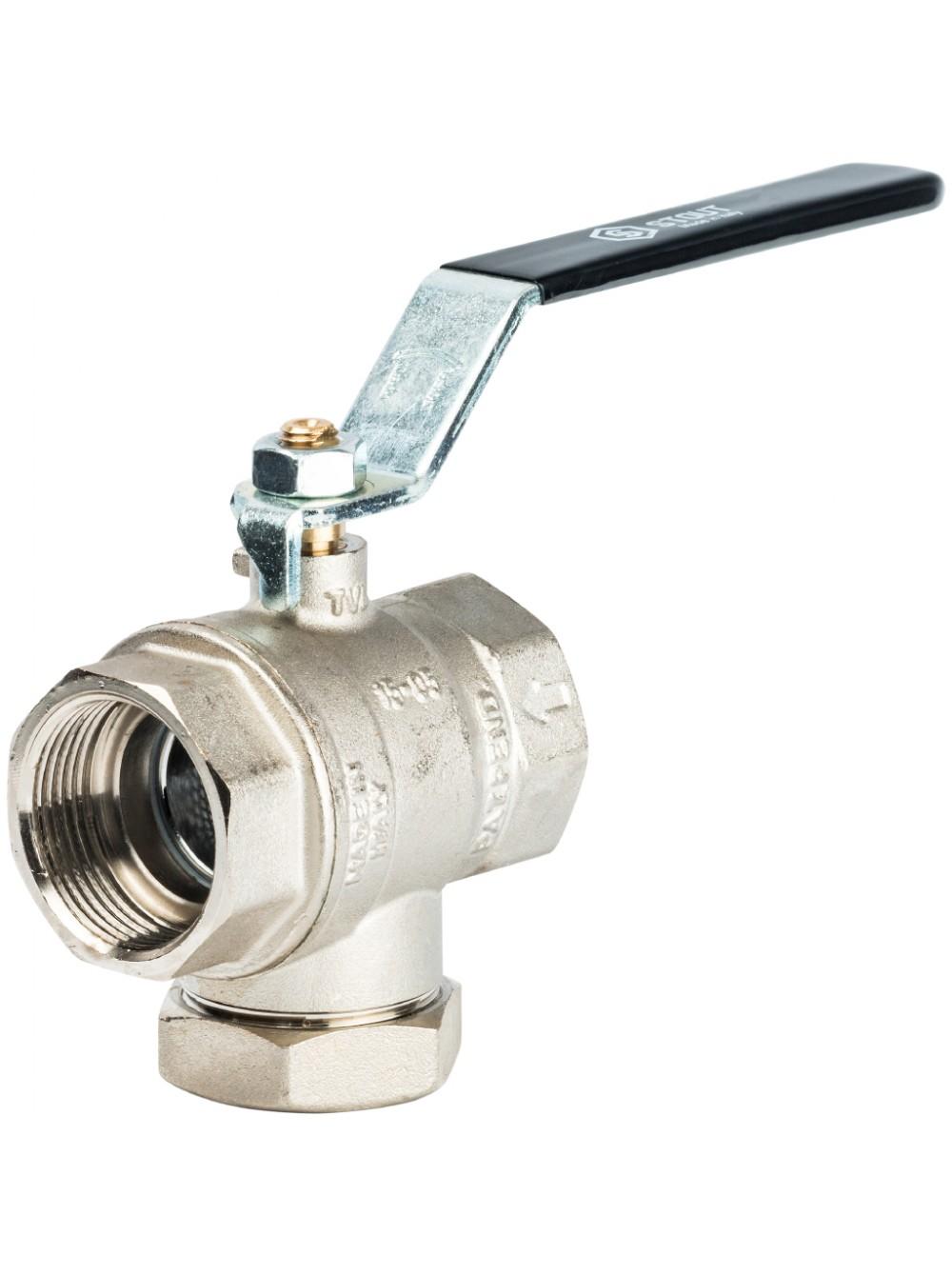 Кран-фильтр шаровой 1 1/4 г-г руч. Stout