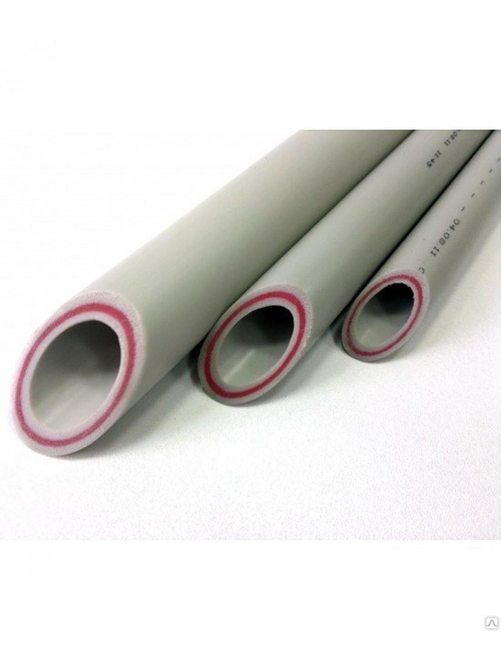 Труба ппр стекловолокно Valfex (Pn25) ф32 (60) СЕРАЯ - Полипропиленовые трубы