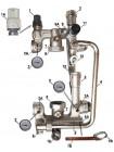 Насосно-смесительный узел Vieir HS113 в комплекте 180мм без насоса (2)