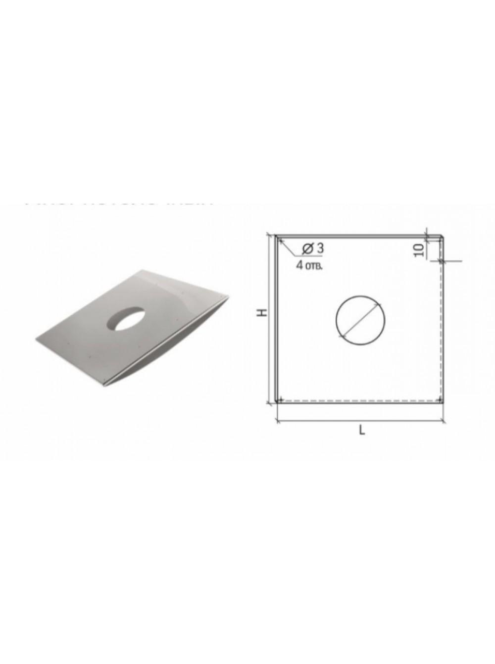 Лист Потолочный Универсальный ЛПУ-Р 500x500 D130-150