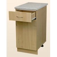 Кухонный рабочий стол 50х60 цвет ольха, МДФ, 1 ящик