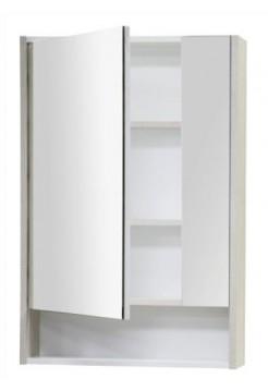 Зеркальный шкаф Рико 65 белый/ясень фабрик