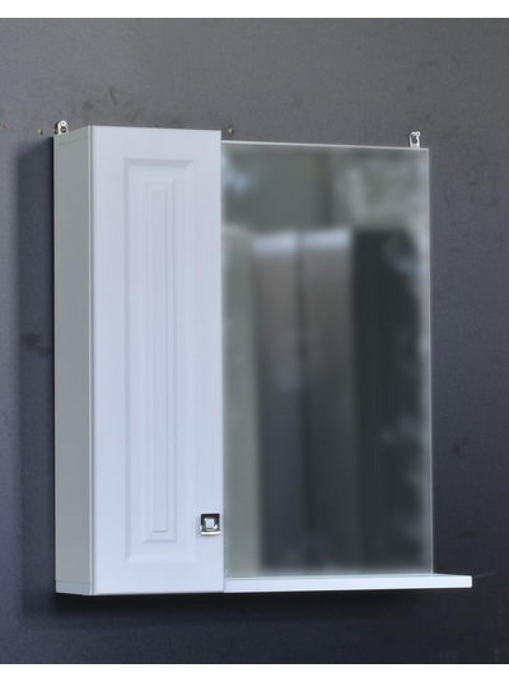 Зеркало-шкаф Клео-60 Белый софт 600*670*170мм СТК