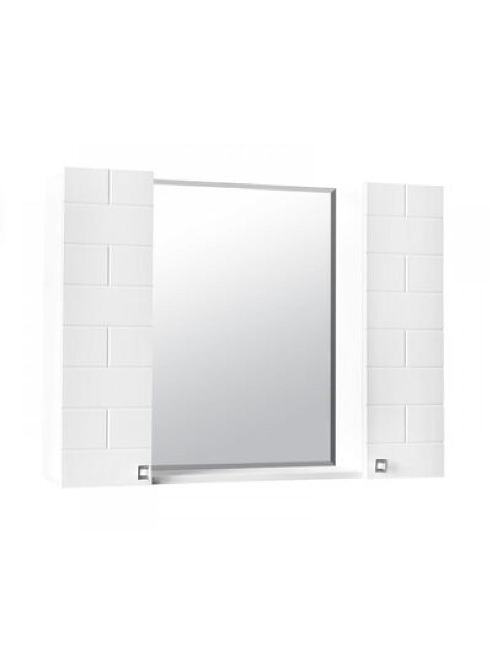 Зеркало-шкаф Стоун-90 (Капучино) 2 двери 900х670х170 СТК