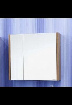 Зеркало Ларго 80 L(белый, вяз швейцарский) Sanflor