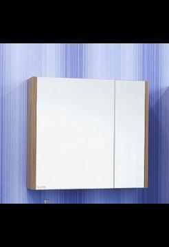 Зеркало Ларго 80 R(белый, вяз швейцарский) Sanflor
