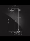 Душевая система Elghansa 2307595-2А со стационарной лейкой 200мм