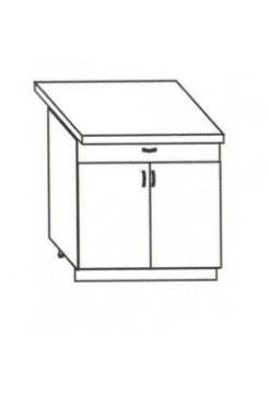 Кухонный рабочий стол 60 цвет белый, ЛДСП, 1ящ