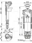 Арматура для бачка AlcaPlast SA2000S 1/2, нижний подвод