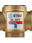 Насосно-смесительный узел STOUT  с термостатическим клапаном 20-43°C, без насоса
